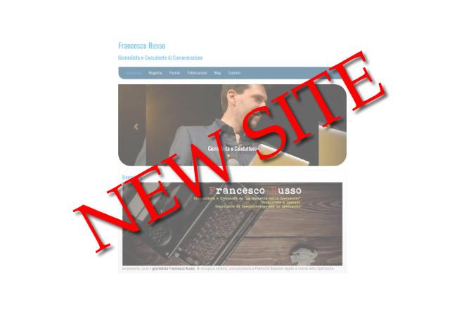 Nuovo sito di Francesco Russo